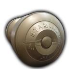 STAMINA Plastic Dumbbell 6kg [ST-800-6CG] - Gold - Barbell / Dumbbell